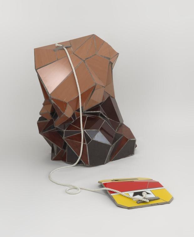 Zhanna Kadyrova, Tea Bag, 2008-2010, piastrelle in ceramica, schiuma poliuretanica, cemento, corda, h 140 x 120 x 60 cm, Courtesy Galleria Continua, San Gimignano- Beijing- Les Moulins-H