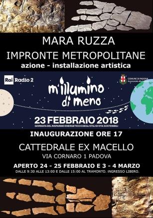 Mara Ruzza_Impronte metropolitane_Manifesto2018