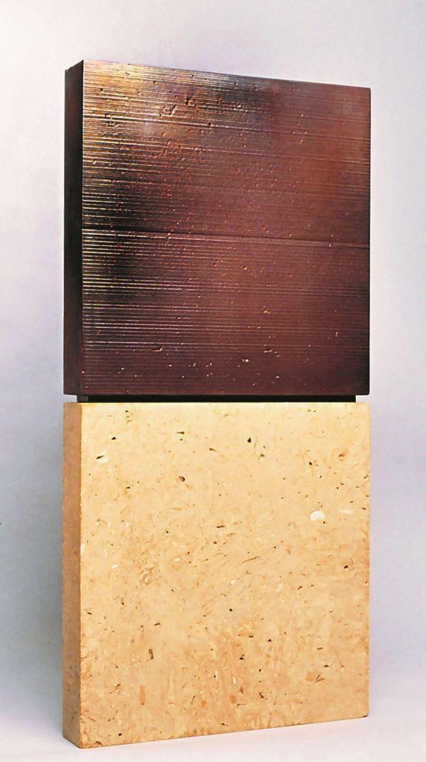 Senzatitolo-1989 cm91x45x7,5 terracotta, smalto,lustro in vernice