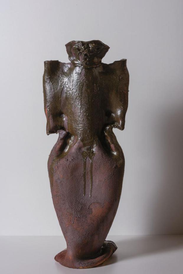 Tarahumara I, bucchero, 74 x 29 x 26 cm, 2018 - M. Luccioli